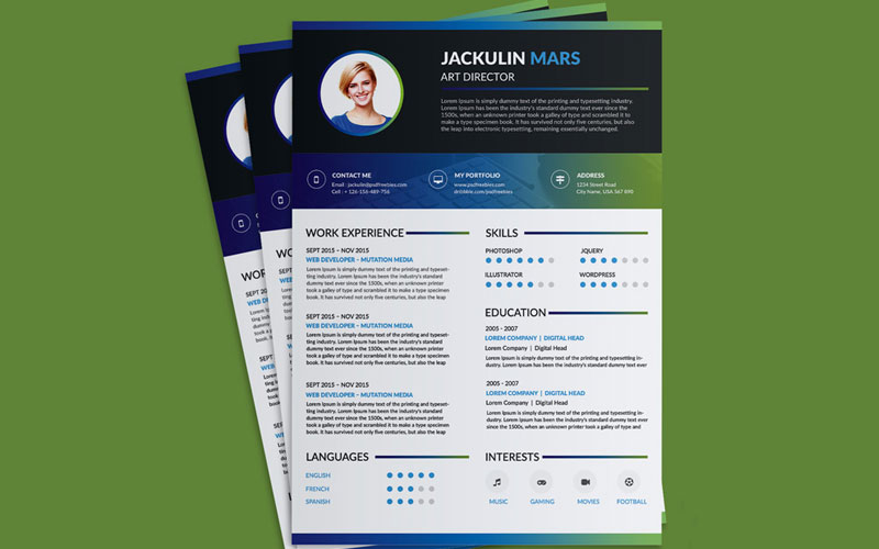 Beautiful-Resume-(CV)-Design-Template-Free-PSD-File