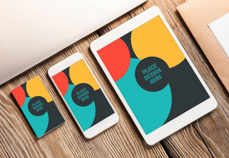 Business-Card-and-Apple-Devices-Mockup