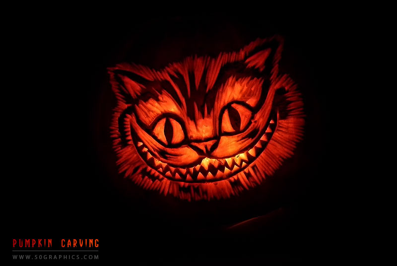 Chesire-Cat-Pumpkin-Carving