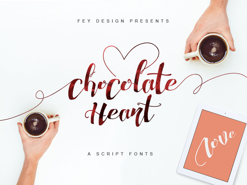 Chocolate-Heart-Free-Font