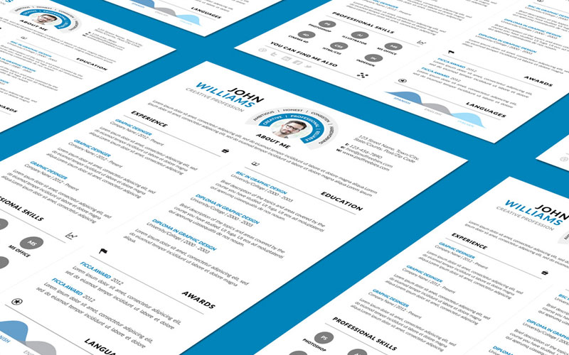 Clean-and-Professional-Resume-(CV)-Design-Template-Free-PSD-File