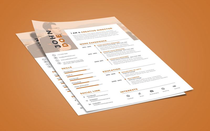 Creative-Executive-Resume-(CV)-Design-Template-PSD-File