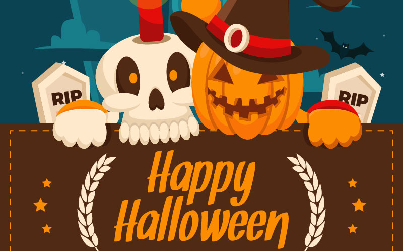 FREE-Halloween-Greeting-Cards-Illustration