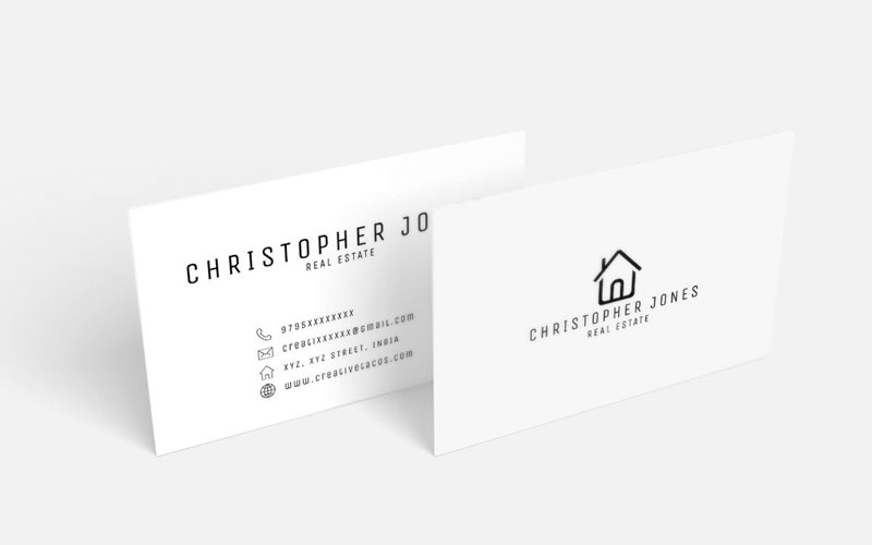 50 free world best creative business card design templates free real estate minimal business card reheart Images