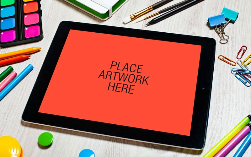 Free-Artistic-Workspace-iPad-Mockup