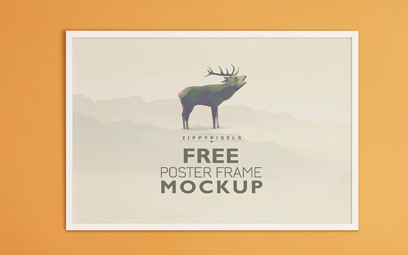 Free-Beautiful-Poster-Frame-Mockup