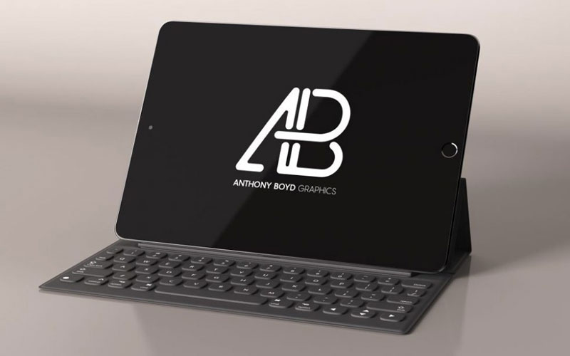 Free-Black-iPad-with-Keyboard-Mockup