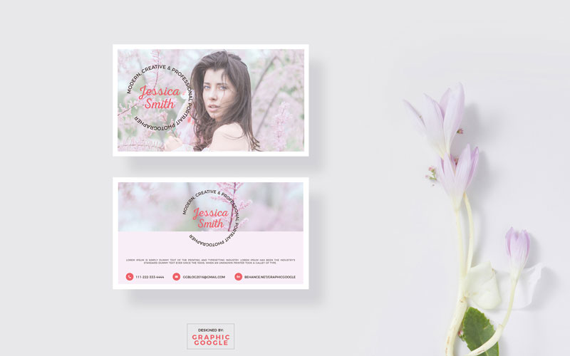 Free-Blooming-Business-Card-Mockup-&-Photographer-Design-Template