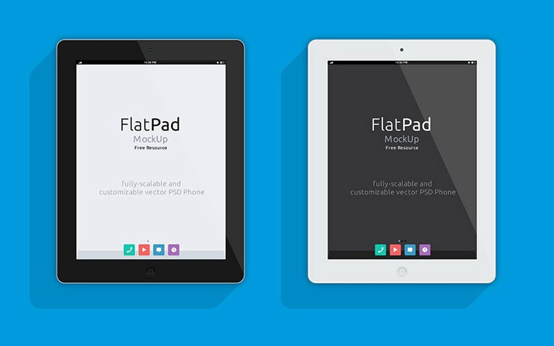 Free-Clean-iPad-front-View-Mockup
