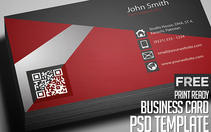 Free-Creative-Red-Business-Card-PSD-Template