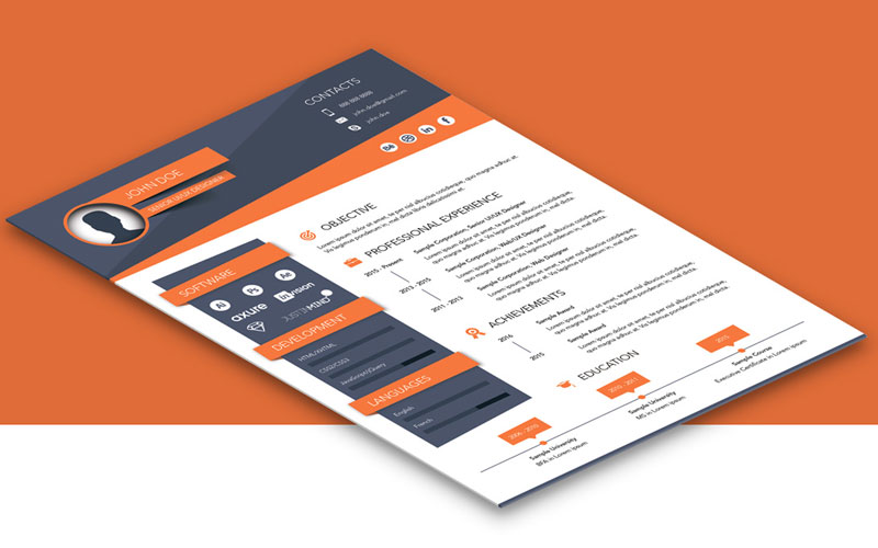 Free-Creative-Resume-(CV)-Design-Template-Ai-File