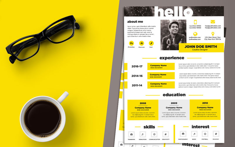 Free-Creative-Resume-(CV)-Design-Template-PSD-File