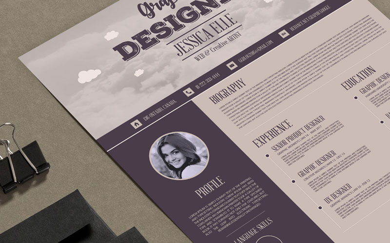 Free-Creative-Vintage-Resume-Design-Template-For-Designers