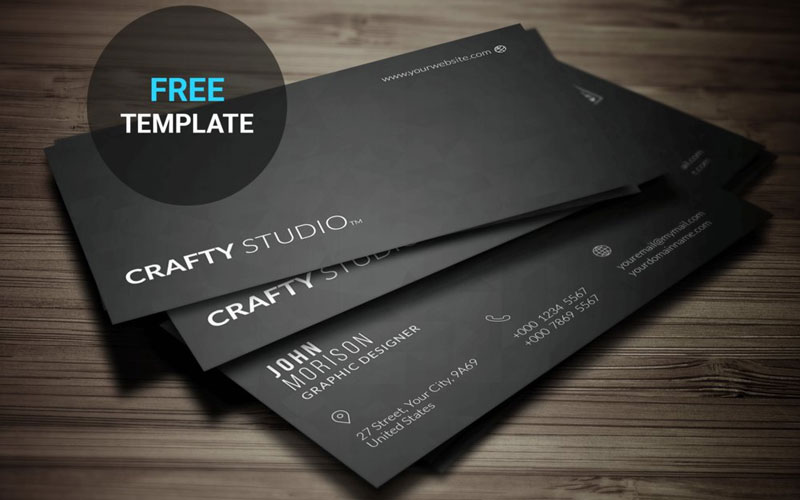 free download minimal business card template