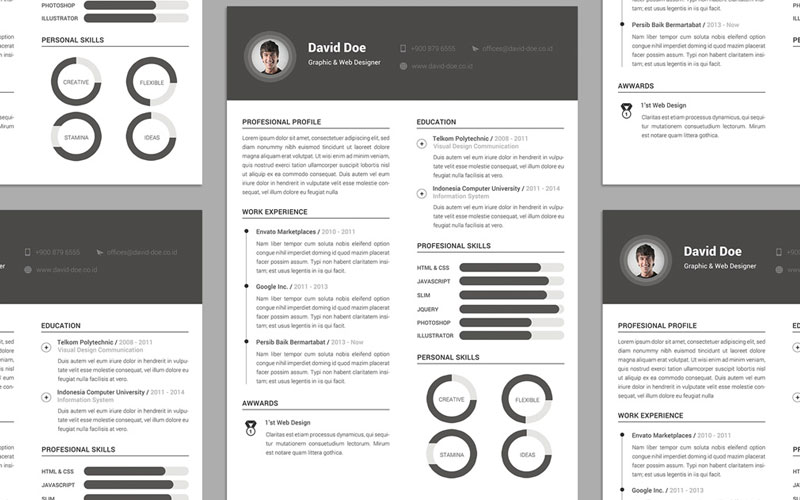 Free-Elegant-Resume-(CV)-Design-Template-PSD-File