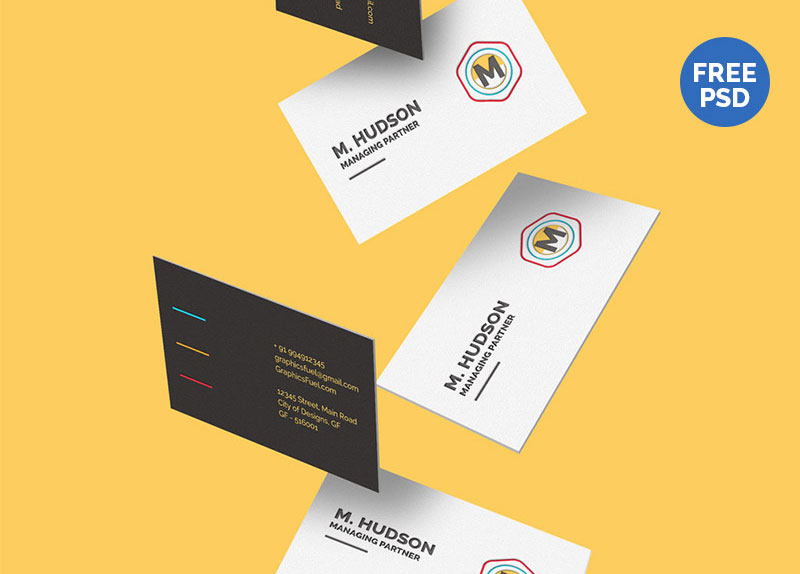 Free-Falling-Business-Cards-Mockup