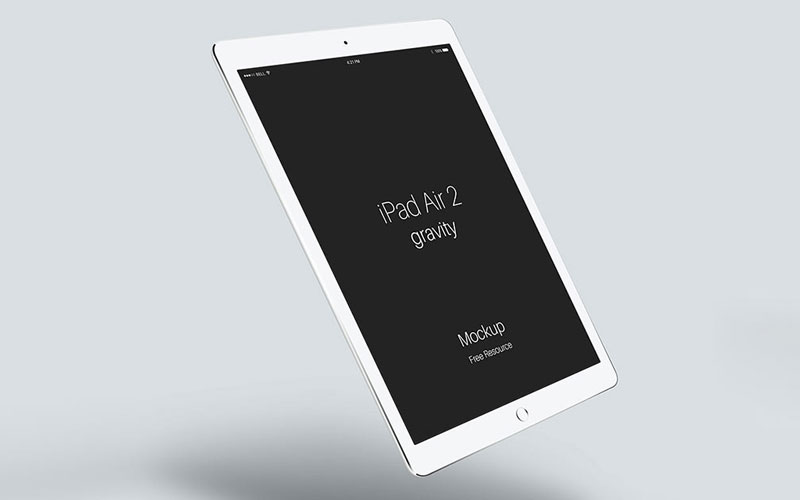 Free-Floating-iPad-Air-Mockup
