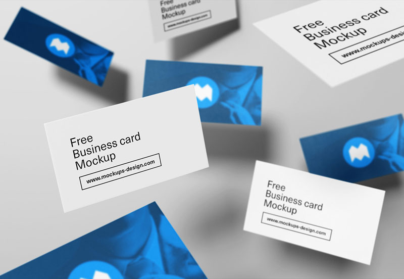 Free-Flying-Style-Business-Card-Mock-Up-Psd
