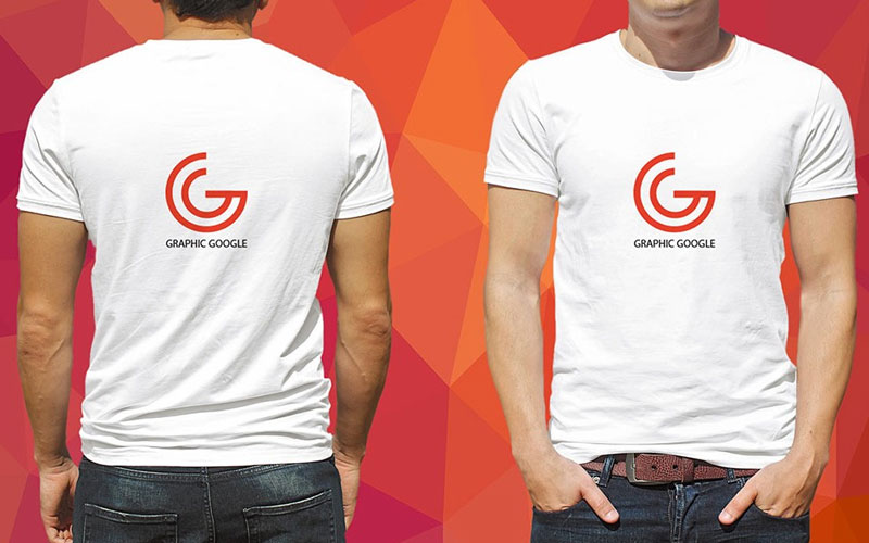 Free-Front-and-back-male-T-Shirt-Mockup