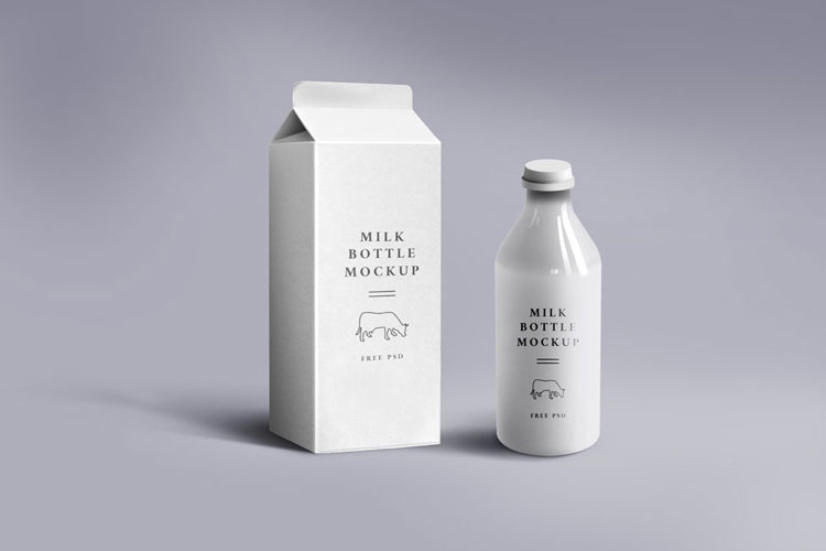 Free-Milk-Carton-&-Glass-Mockup