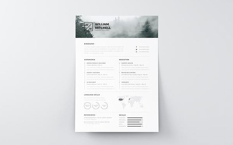 Free-Minimalist-Resume-(CV)-Design-Template-With-Cover-Letter-PSD-&-Ai-Files