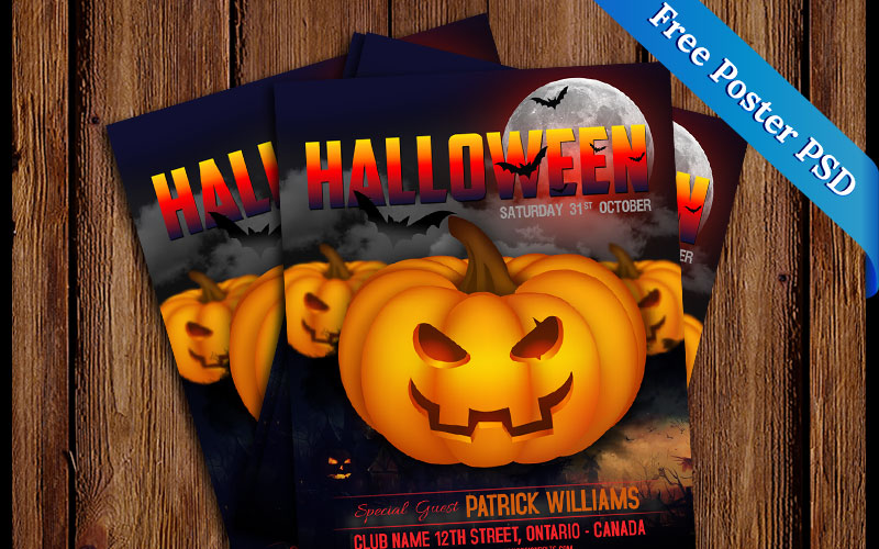 Free-PSD-Halloween-Party-Poster