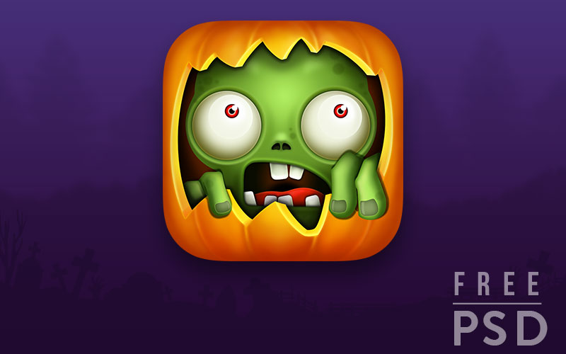 Free-PSD-Halloween-app-icon