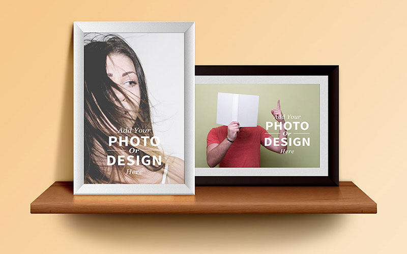 Free-Photo-Frames-on-the-Shelf