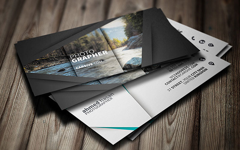 50 free world best creative business card design templates free photographer business card template accmission Image collections
