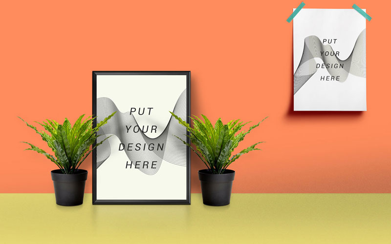 Free-Picture-Frame-&-Poster-Mockup