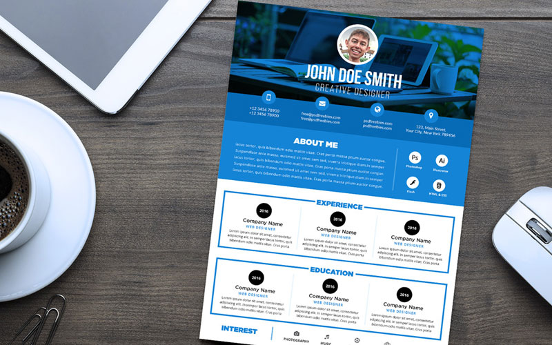 Free-Professional-Resume-(CV)-Design-Template-PSD-File