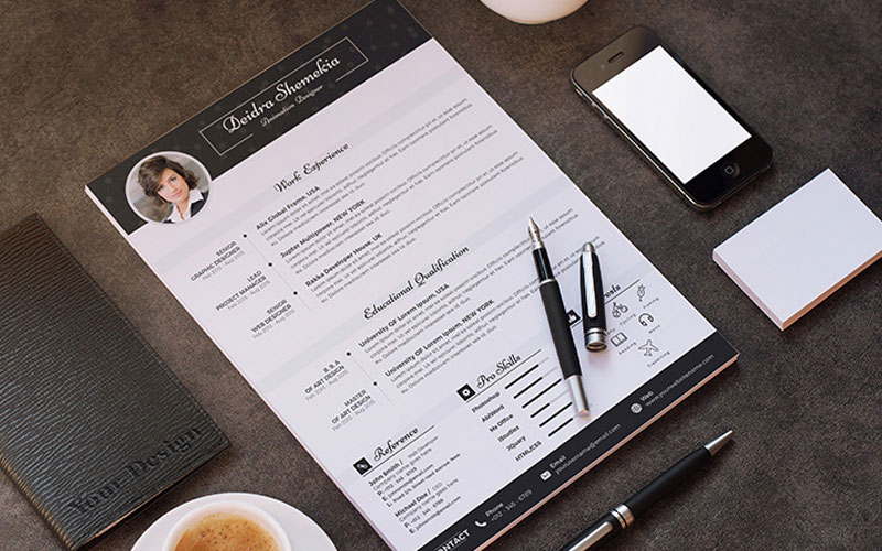 Free-Professional-Resume-(CV)-Design-Template-With-Cover-Letter