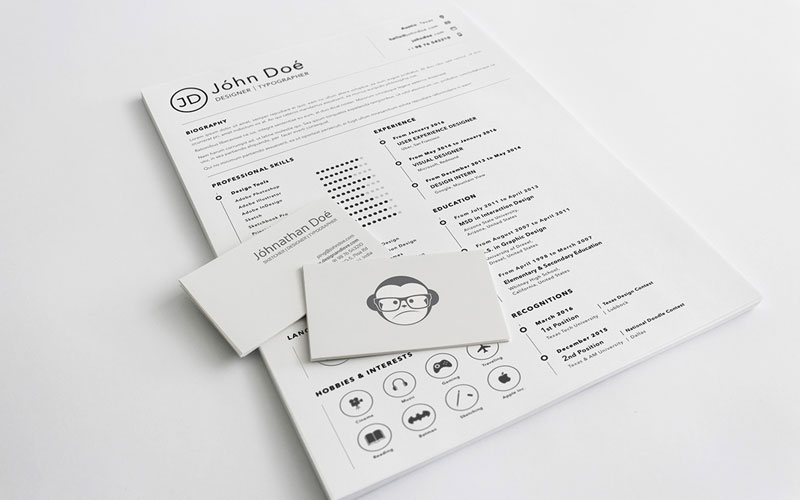 Free-Simple-Clean-Resume-(CV)-Design-Template-Sketch-File