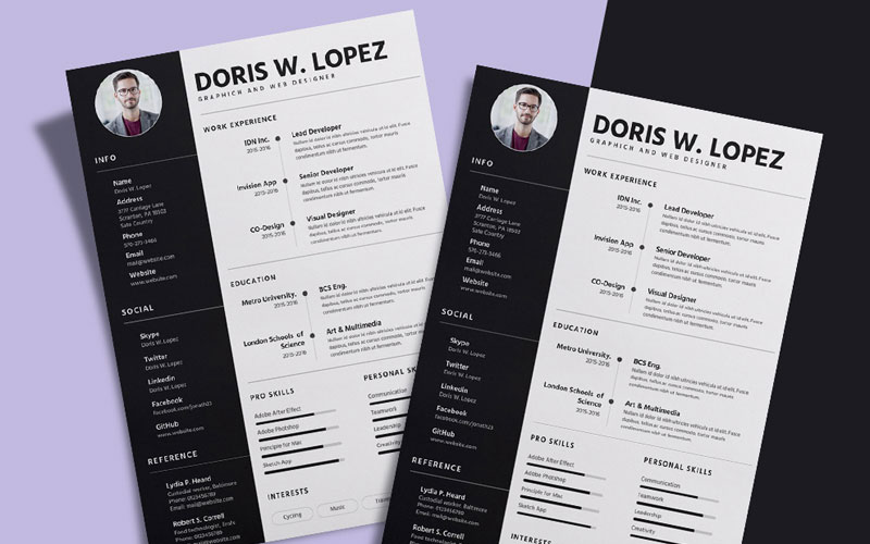 Free-Simple-&-Professional-Resume-(CV)-Design-Template