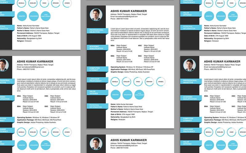Free-Simple-Resume-(CV)-Design-Template-PSD-File
