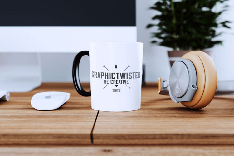 Free-White-Cup-on-Desk-Mockup