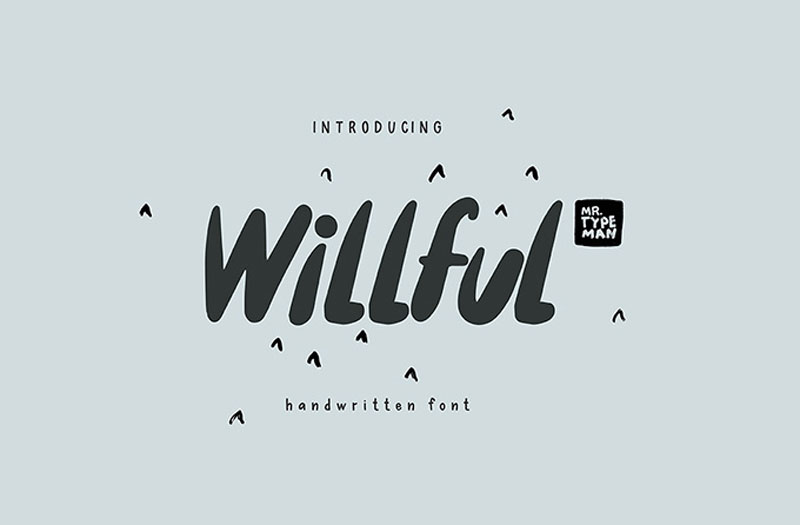 Free-Willful-Handwritten-Brush-Font