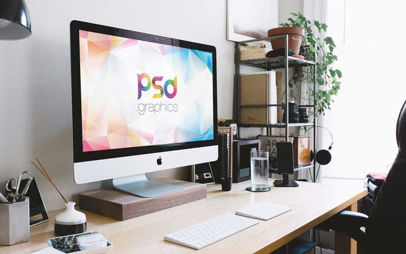 Free-iMac-(27″)-in-Home-Office-Mockup