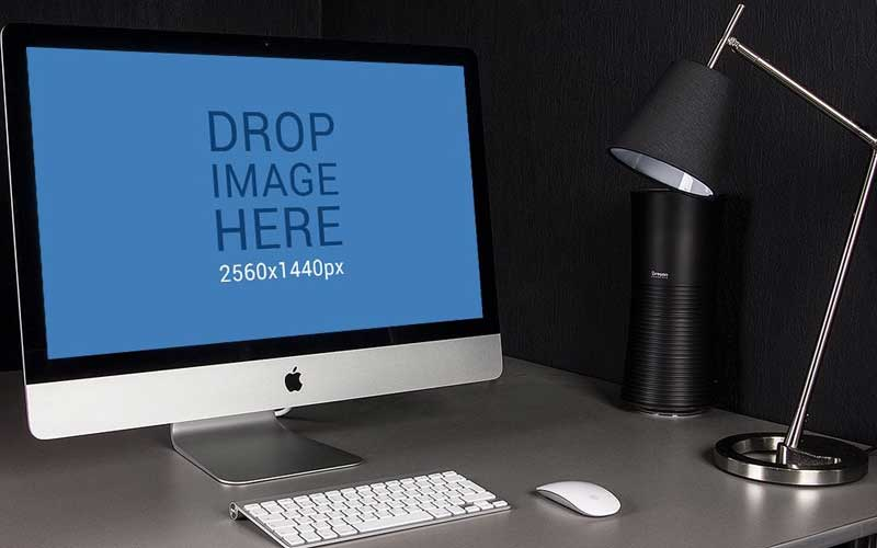 Free-iMac-in-Dark-Style-Office-Mockup