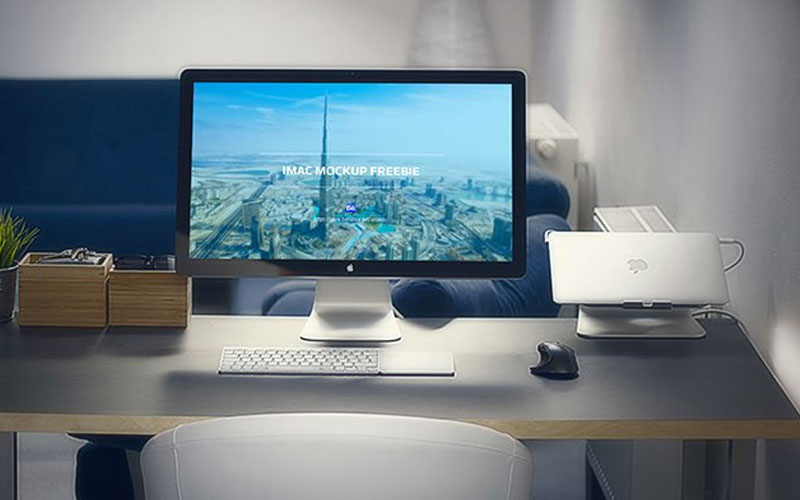 Free-iMac-in-Office-Mockup