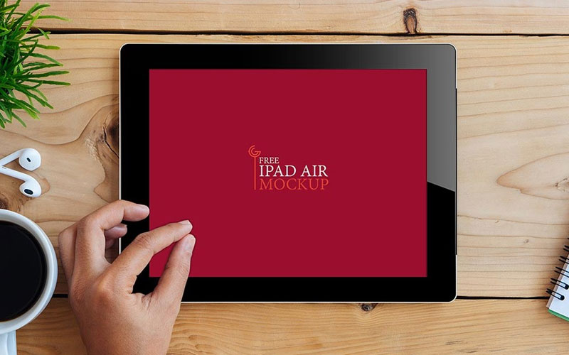 Free-iPad-Air-on-Desk-Mockup