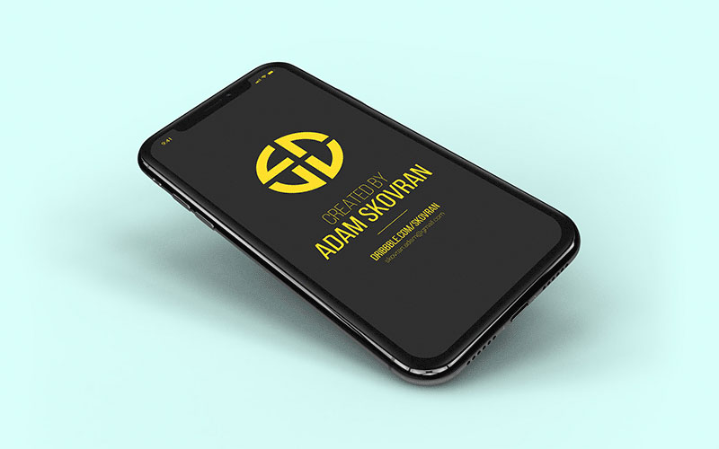 Free-iPhone-X-Black-Mockup