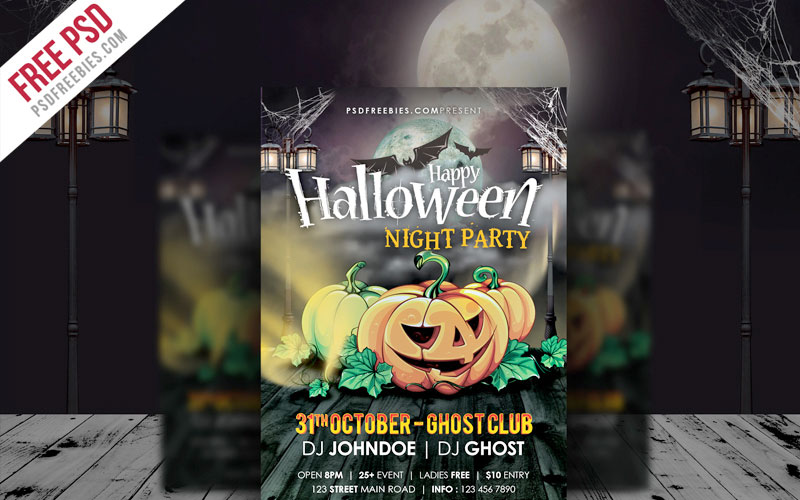 Freebie-Halloween-Night-Party-Flyer-Template-PSD