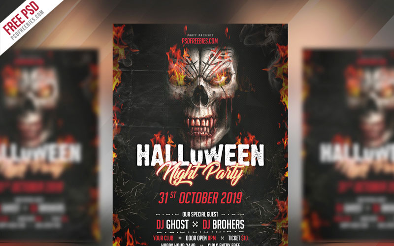 Freebie-Halloween-Party-Invitation-Flyer-PSD-Template