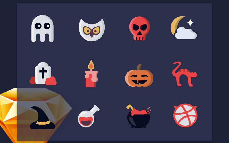 Halloween-Free-Icon-Set