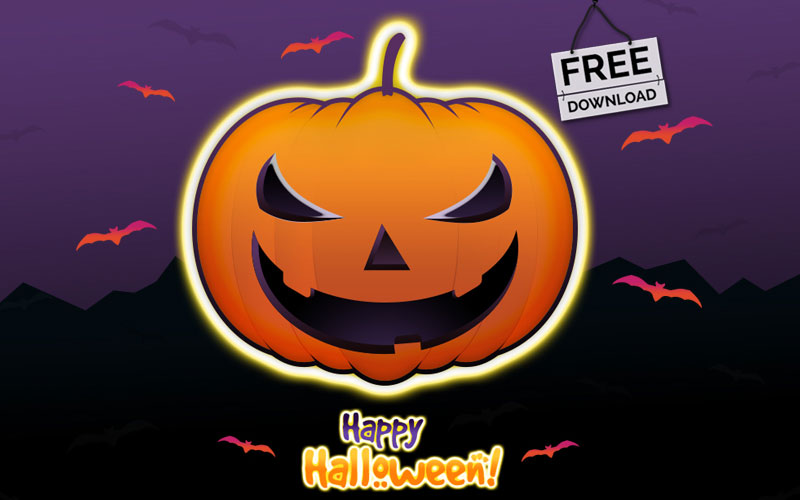 Halloween-Pumpkin-iIllustration---vector-graphic