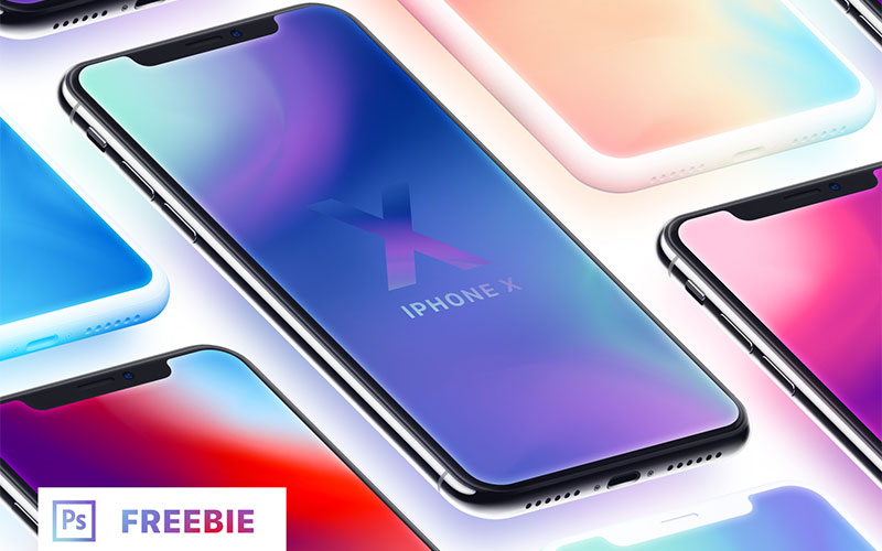 Iphone-X-—-Isometric-Mockups-+-Clay-(Freebie)