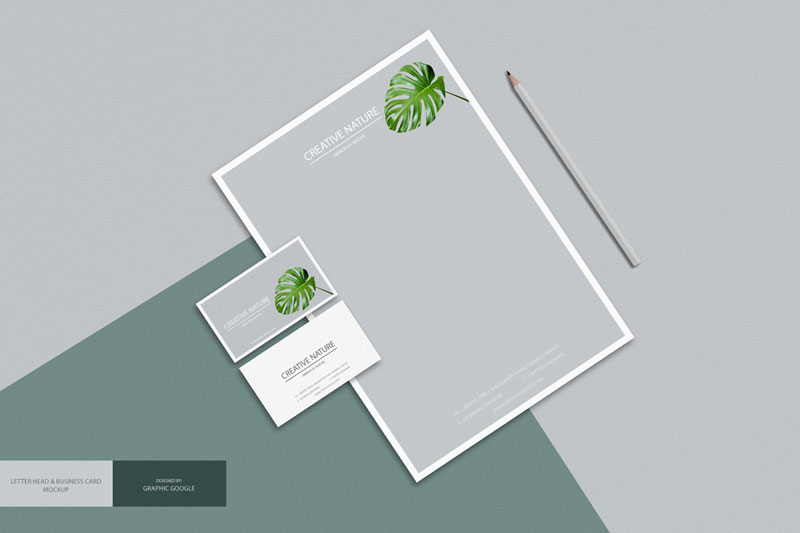 Letter-Head-with-Business-Card-Mockup