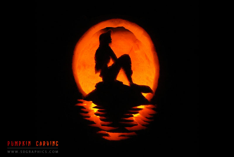 New-Little-Mermaid-Pumpkin-Carving