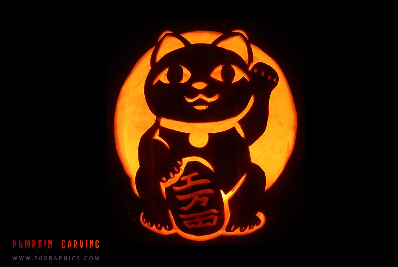 New-Maneki-Neko-Pumpkin-Carving